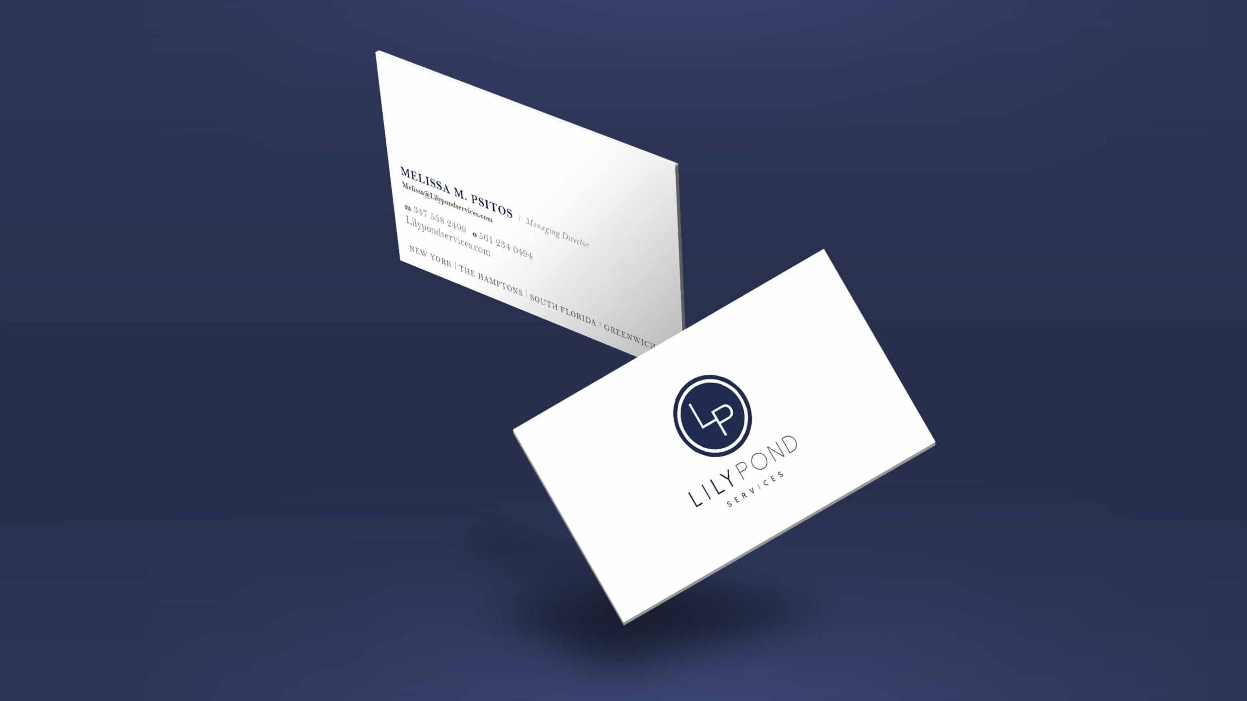 Lily Pond Services Business Cards